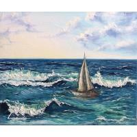 Лодка и вълни