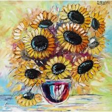 Цветен букет – слънчогледи