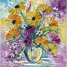 Цветен букет – хризантеми