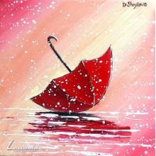 Цветно чадърче