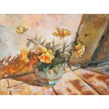 Натюрморт с жълти рози - Димитър Димитров