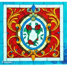 Викториански флорален панел