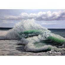 Вълните пеят в облачната целувка на страстта