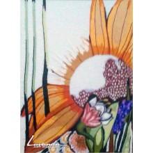 Цветя (Бродирана картина върху вълнено платно)