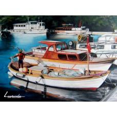 Рибарско пристанище в Ердек - Турция