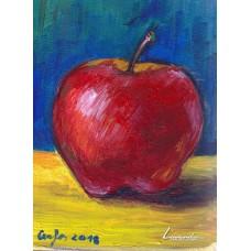 Натюрморт с ябълка - Цветелина Кукова
