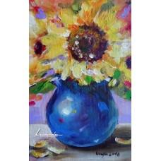 Ваза със слънчогледи - Цветелина Кукова