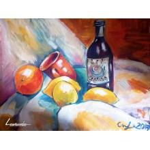 Натюрморт с бутилка - Цветелина Кукова